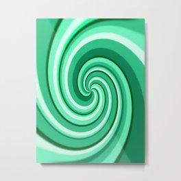 Turquoise Treat Tasty Twirl Metal Print