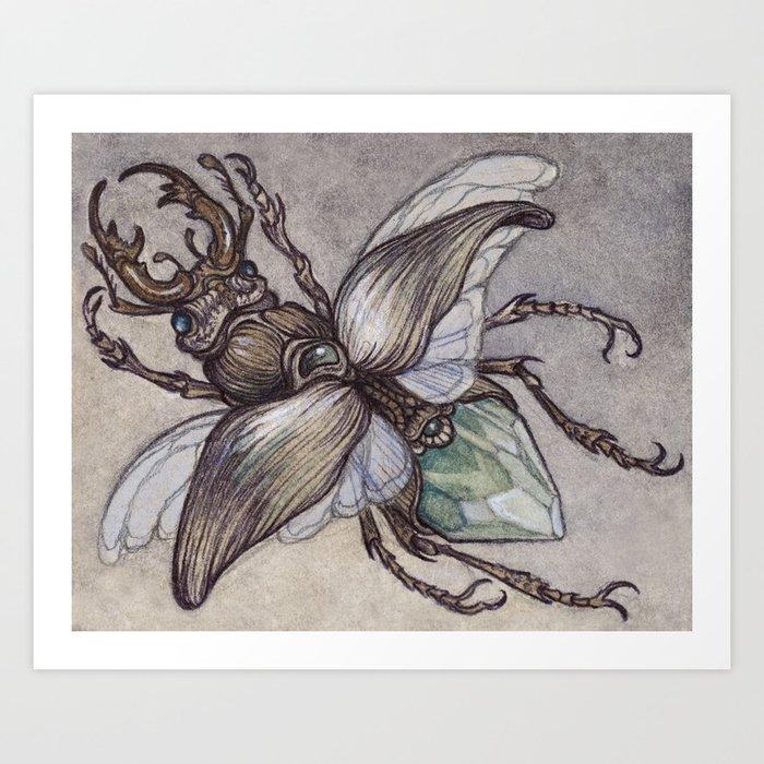 Crystal Beetle Art Print