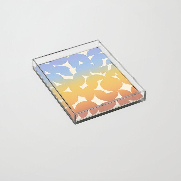 Abstract Shapes - Retro Rainbow Acrylic Tray