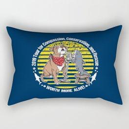 (v2) Worth More Alive! Rectangular Pillow