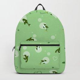 Green Orca Backpack