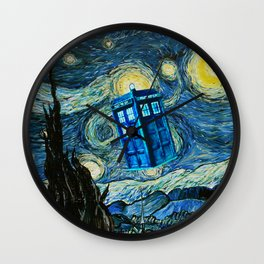 Flying Tardis doctor who starry night iPhone 4 4s 5 5c 6, pillow case, mugs and tshirt Wall Clock
