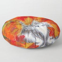 Autumn Wolf Floor Pillow