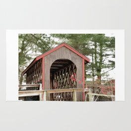 Photography Covered Bridge Rug