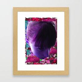 GIRL COLLAGE Framed Art Print