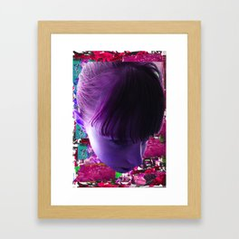 GIRL COLLAGE Framed Art Print