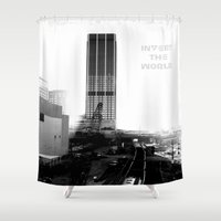 atlanta Shower Curtains featuring Rebirth Atlanta by Invert The World