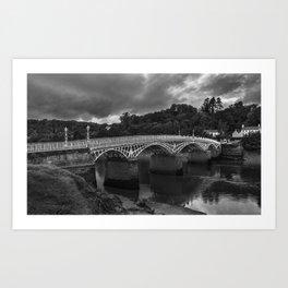 The Old Wye Bridge Chepstow Art Print