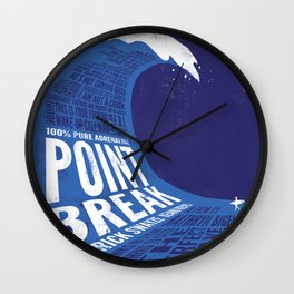 Point Break Wall Clock