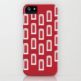 Telephone Kiosk Pattern iPhone Case