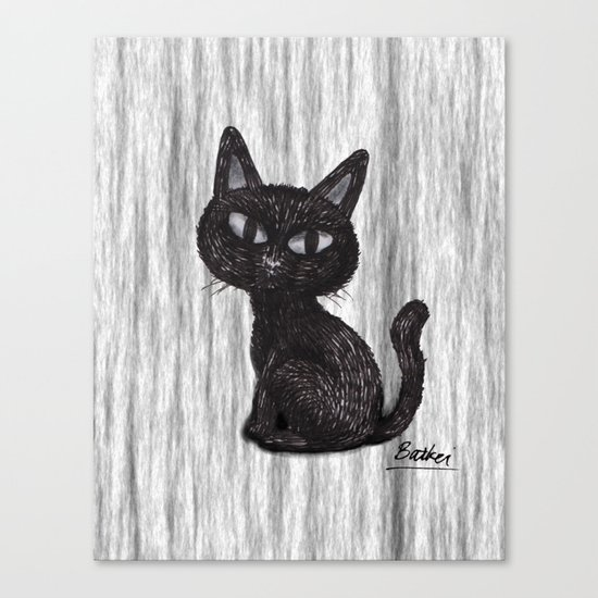 BLACK CAT 2 Canvas Print