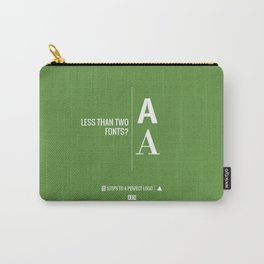 Perfect Logo Series (4 of 11) - Green Carry-All Pouch