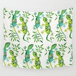 Geckos – Green Palette Wall Tapestry