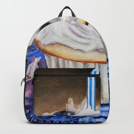 Celebration In Blue Cupcake Painting Backpack