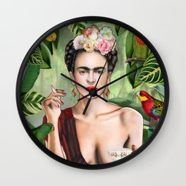 Frida con Amigos Wall Clock