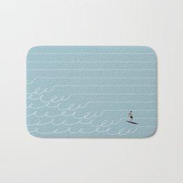 Surf Lines - Blue Bath Mat