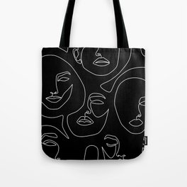 Faces in Dark Tote Bag