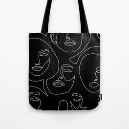 Faces in Dark Tote Bag