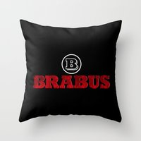 mercedes Throw Pillows featuring BRABUS by Pisthead