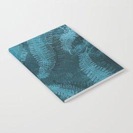 Ferns (light) abstract design Notebook