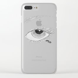A Vision in Black & White Clear iPhone Case
