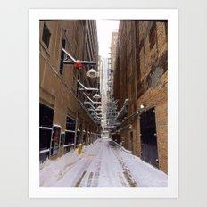 Winter Alley Art Print