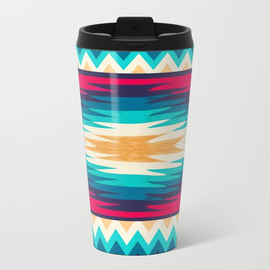 SURF GIRL CHEVRON Metal Travel Mug