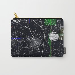 Abstract Black and White Etching Design Carry-All Pouch