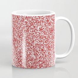 Spacey Melange - White and Firebrick Red Coffee Mug