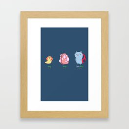 Catbug Evolution Framed Art Print