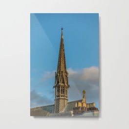 Exeter College Chapel Spire Oxford University England Metal Print