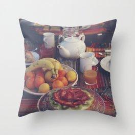 Food photography, fruit still life, kitchen wall art, bed & breakfast, food porn, fine art Throw Pillow
