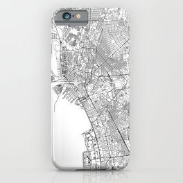 Manila White Map iPhone Case