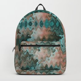 South Western Desert Colors Wavy Mosaic Backpack