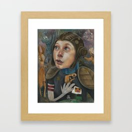 IMAGINARY ASTRONAUT Framed Art Print