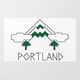 Mt Hood Portland by Seasons K Designs Rug