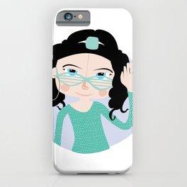 Diva, illustrated cold portrait iPhone Case