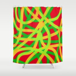 lively lines Shower Curtain