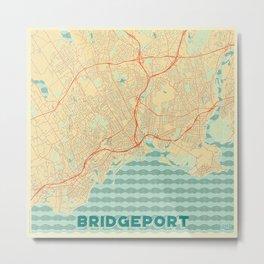 Bridgeport Map Retro Metal Print