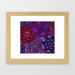 Spooky Flowers Framed Art Print