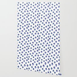 Pattern design with blueberries Wallpaper