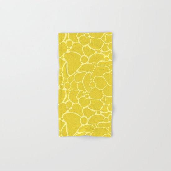 Yellow creative abstract pattern . Hand & Bath Towel