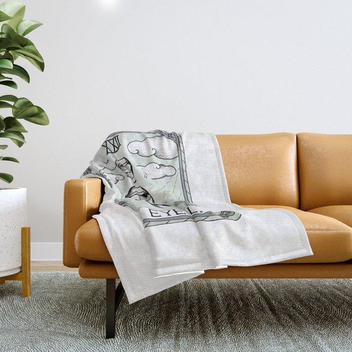 The Eye Roll Throw Blanket