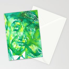 PABLO NERUDA - watercolor portrait .1 Stationery Cards