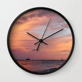 Cotten Candy Sunset Wall Clock