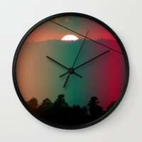 portugal Wall Clocks featuring Portugal Mountains by Joana Sa
