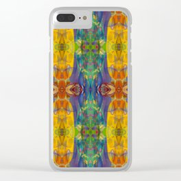 Blue Rainbow Clear iPhone Case