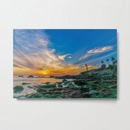 Low Tide Laguna Sunset Metal Print