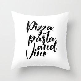 PRINTABLE POSTER, Pizza Pasta And Vino, Bar Decor,Pizza Shop Decor,Restaurant Throw Pillow