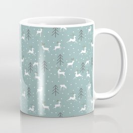 Deer in a Christmas Forest Coffee Mug